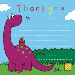 Magical Dinosaur Thank You Note